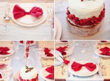 Decoración roja y blanca en cumpleaños infantiles